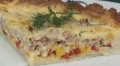 Tuna, Red Pepper and Potato Quiche