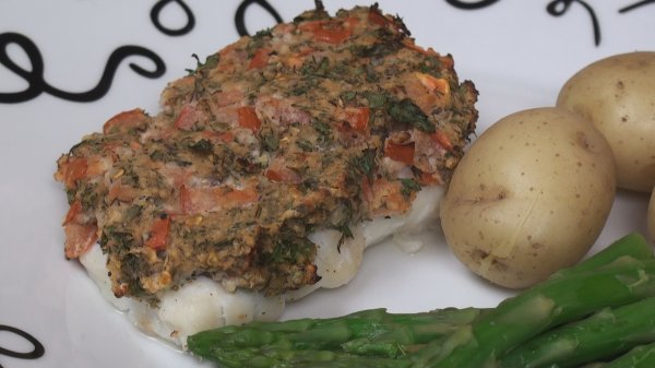 Baked Fish with Herb Crust