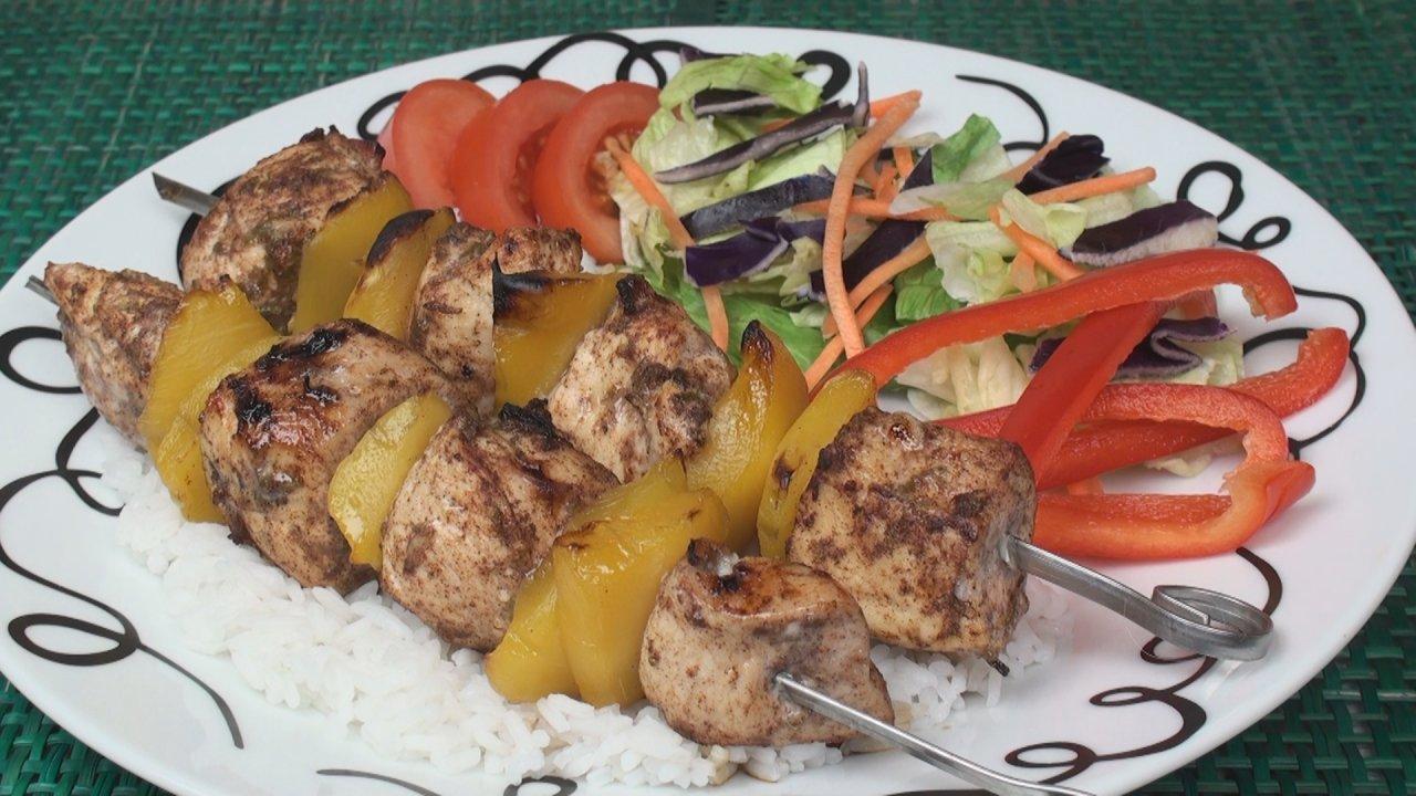 Chicken Kebab Caribbean-Style