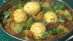 Spicy Egg & Potato Curry (Dimer Dalna)
