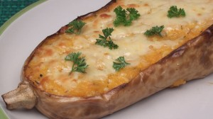Baked Cheesy Butternut Squash