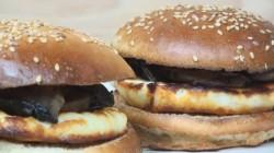 Halloumi & Mushroom Burger