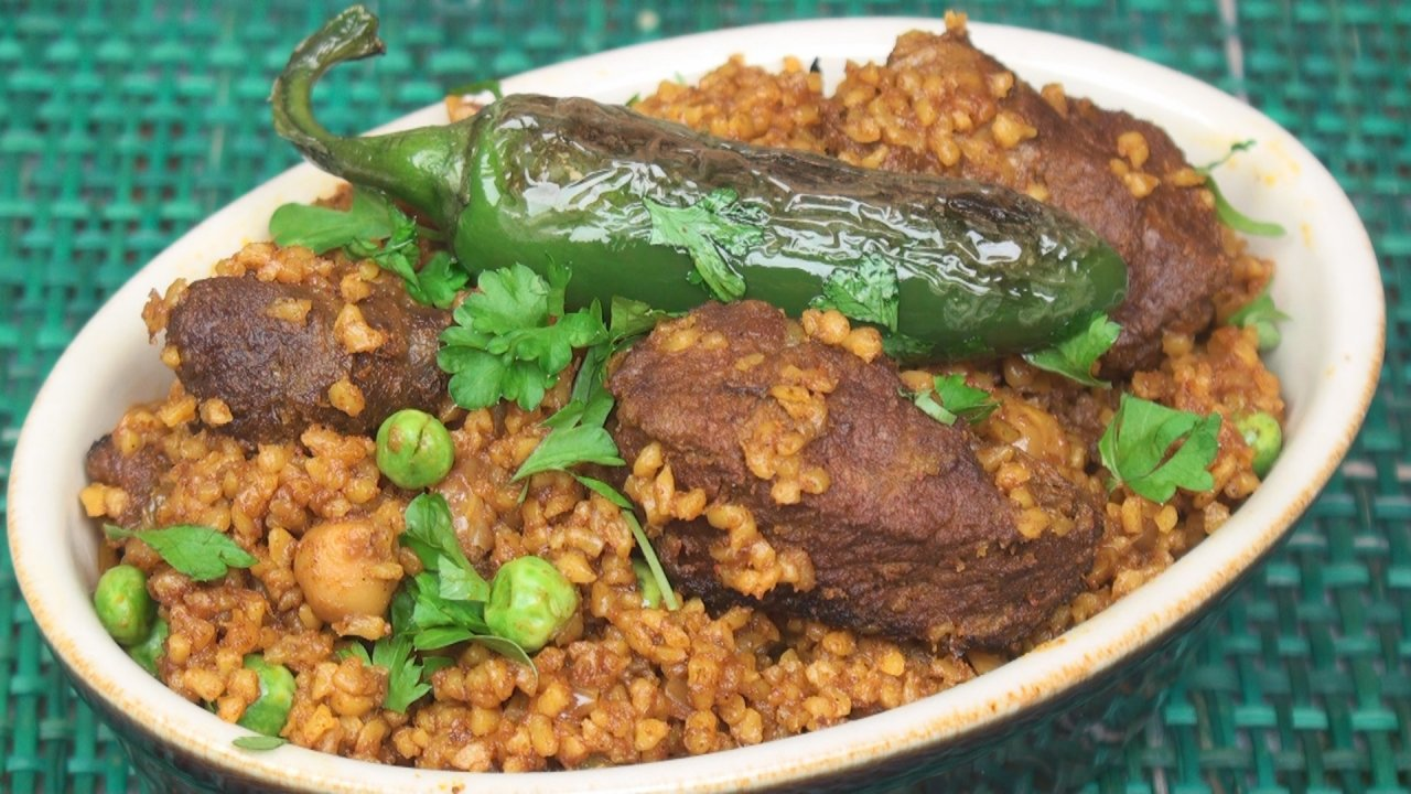 Borghol Bil Allouche (Lamb and Bulgur Stew)