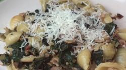 Pasta with Bacon Chard