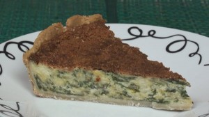 Cheese and Spinach Quiche