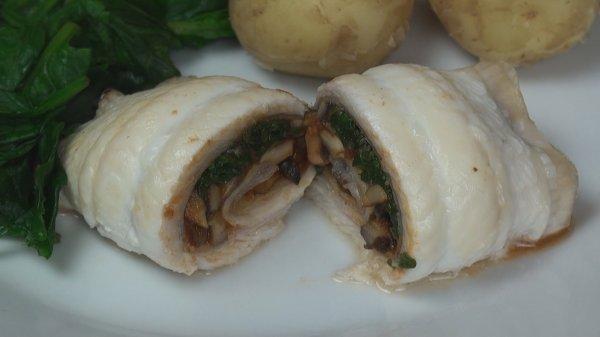 Sole Stuffed with Mushrooms
