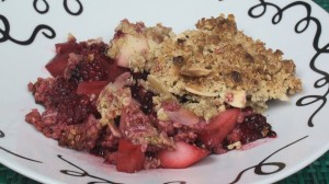 Blackberry & Pear Crumble