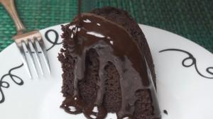 Chocolate Sponge Pudding with Hot Chocolate Sauce